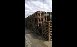 Výkup dřevěných EUR palet B kvality, Opava