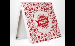 kartonová krabice na pizzu s potiskem