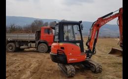 Zemní práce - úprava terénu Blansko