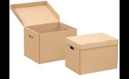 archivační krabice s výseky pro snadnou manipulaci