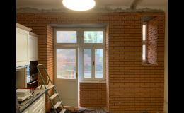 Malířské a stavební práce, změna dispozic