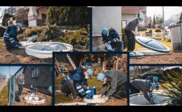 výstavba systému domácích čistíren odpadních vod