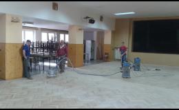 Renovace podlah pro byty, RD, školy, tělocvičny a sály