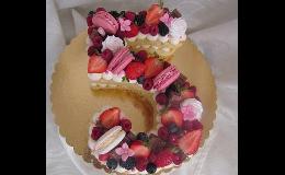 Ovocné, nahé, patrové, čokoládové dorty - objednání přes e-shop