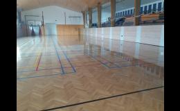 Dodávky a opravy sportovních podlah