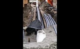 Zemní práce - výkopy pro kabeláže