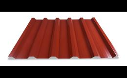Prodej trapézových plechů v různých barevných odstínech
