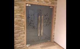 skleněné dveře na míru - Skloservis-Brod
