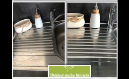 Mytí kuchyňských dřezů párou