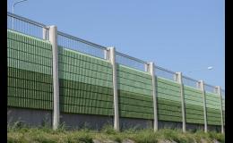Různé varianty protihlukových stěn