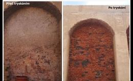 Tryskání historických objektů, kulturní památky