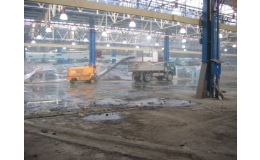 Průmyslové podlahy - vysokopevnostní, betonové - výroba, montáž Olomouc