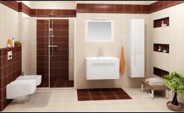klasická koupelna v přírodních barvách