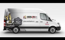 Reklamní polepy osobních aut, dodávek, kamionů