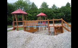 Dětská hřiště z přírodních materiálů - výroba Odry