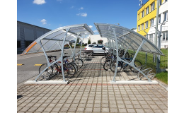 Montovaný přístřešek pro kola - Olomouc