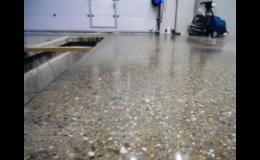 Superbeton - systém broušení, leštění, zpevnění betonových ploch