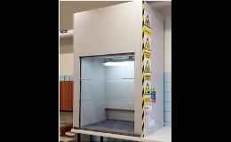 Instalace dvouplášťové laboratorní digestoře