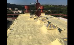 izolace ploché střechy PUR pěnou
