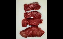 Zvěřina - gulášové maso, řízečky, svíčková, hřbet a další