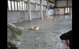 Betonové podlahy pro průmyslové objekty Olomouc