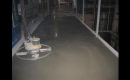 Lité betonové podlahy Olomouc