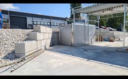 Jednoduchá instalace betonových bloků