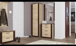 Moderní šatní skříně, botníky