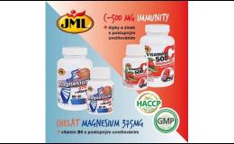 vitamíny s postupným uvolňováním - Magnesium s B6 a C 500 s šípky a zinkem