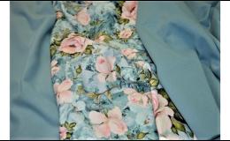 elastická teplákovina - digi tisk květiny