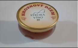 Ochutnejte lahodný hroznový džem z Víno Sýkora
