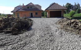 Výstavba příjezdových cest a chodníků Orlová, Ostrava