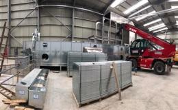 Instalace linky na sušení biomasy a výrobu biomasových peletek