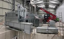 Průmyslová instalace linky na sušení biomasy včetně elektroinstalace l
