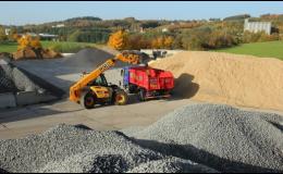Skládání uhlí pásovým dopravníkem Votice