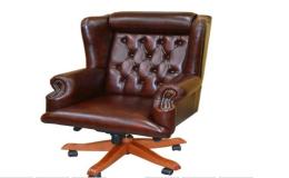 Kožená a čalouněná pracovní křesla, židle pro právnické kanceláře a pracovny