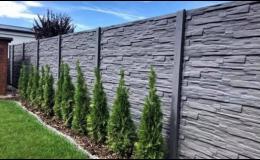 Velký sortiment betonových plotů Hodonín