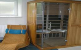 Ubytování v apartmánech pro 9 osob s vlastní infrasaunou, úschovnou kol