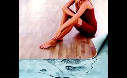 Podlahové krytiny marmoleum, PVC různých rekorů