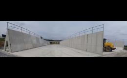 Betonové komponenty - silážní žlaby