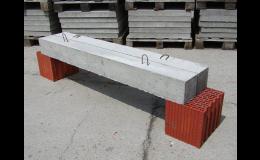 Betonové překlady a jiné stavební prvky z betonu