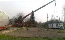 Práce s autojeřáby o nosnosti 20 až 28 tun Ostrava