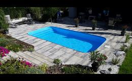 Plastový bazén hluboký až 2 metry