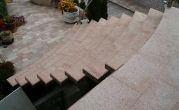Kamenné obklady schodů na přání Olomouc