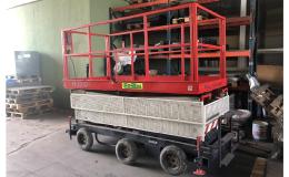 použitá pojízdná pracovní plošina na prodej