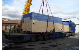 Přepravní, exportní balení zboží, strojů Severní Morava, balení pro export, nakládka a vykládka kontejnerů