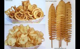Stroje na bramborové spirály, spirálky z brambor - prodej, pronájem