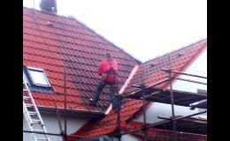 nátěry střechy ve výškách