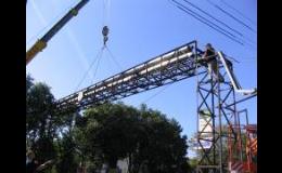 demontáž potrubí a konstrukce mostu
