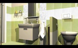 Rekonstrukce koupelny, bytu Jeseník